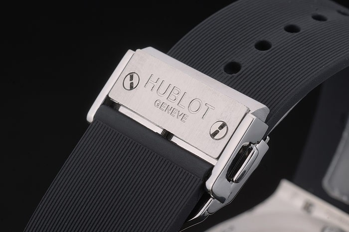 Hublot Big Bang Black Rubber Strap White Checkered Dial 80197